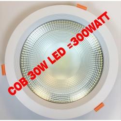 Faro da Incasso LED 30 Watt luce bianca calda